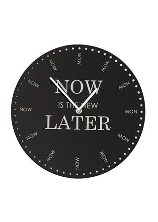 Nástěnné hodiny Now & Later, 30 cm