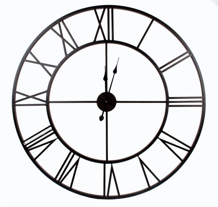 Nástěnné hodiny Old Style, 100 cm, černá