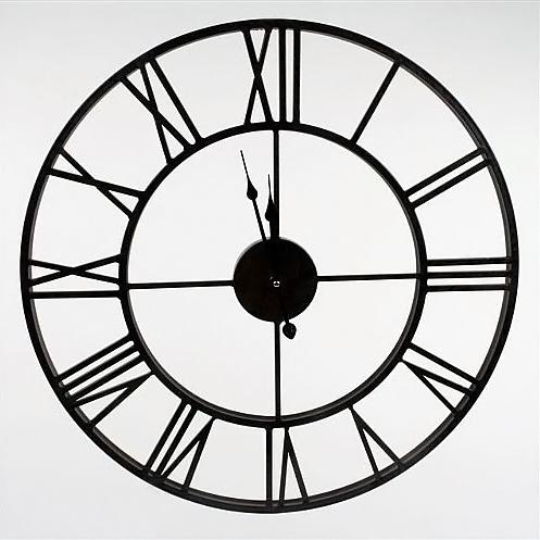 Nástěnné hodiny Old Style, 60 cm, černá