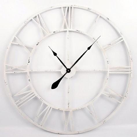 Nástěnné hodiny Old Style, 83 cm bílá