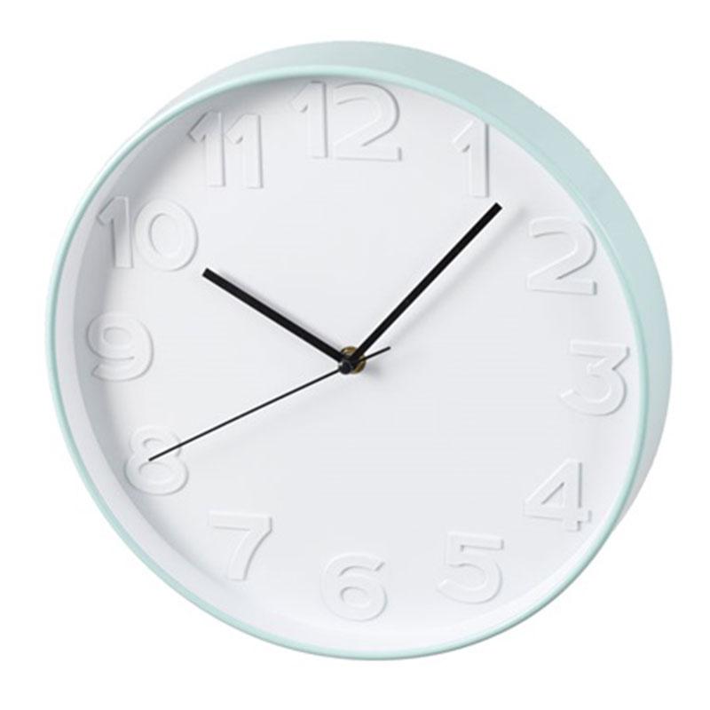 Nástěnné hodiny Pastill, 31 cm, bílá/tyrkysová