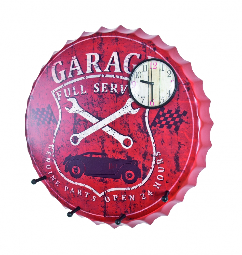 Nástěnné hodiny se 4 háčky Carcap, 50 cm