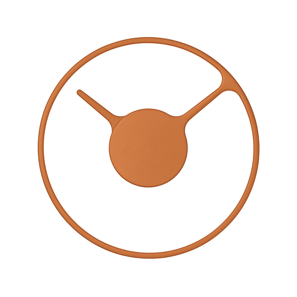 Nástěnné hodiny Stelton Time, 22 cm, oranžová