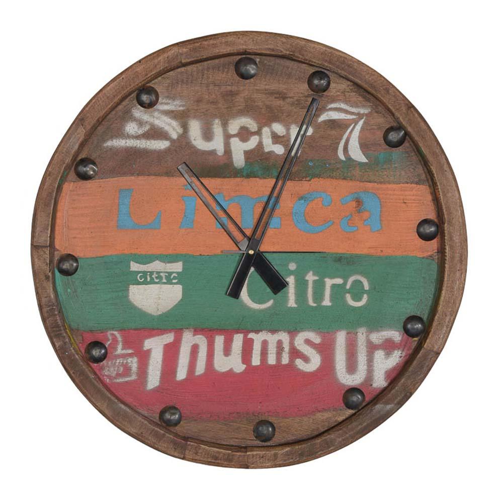 Nástěnné hodiny teakové, 50 cm, Limca