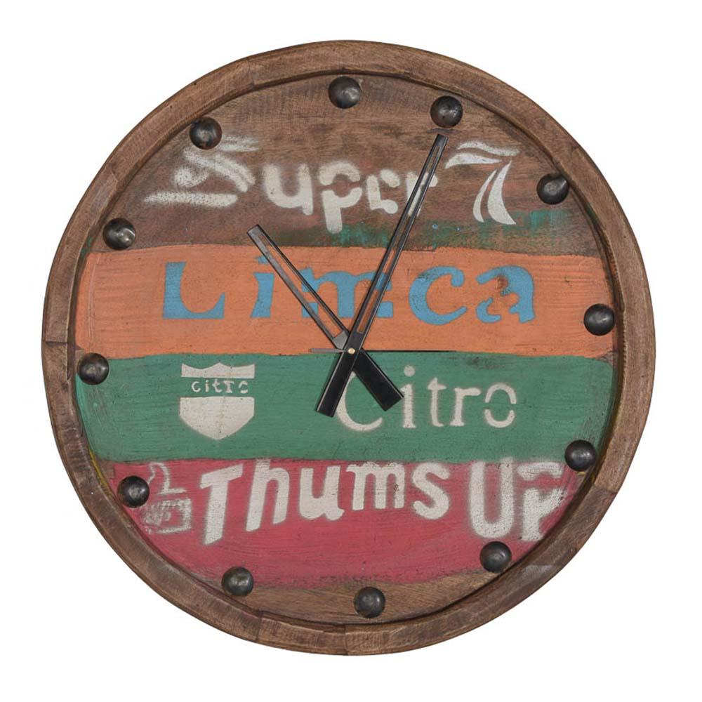 Nástěnné hodiny teakové, 75 cm, Limca