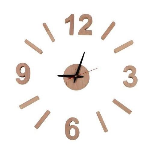 Nástěnné hodiny z nalepovacích číslic Timmar, 58 cm, olše