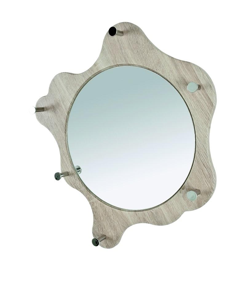 Nástěnné zrcadlo Avenus, dub / chrom