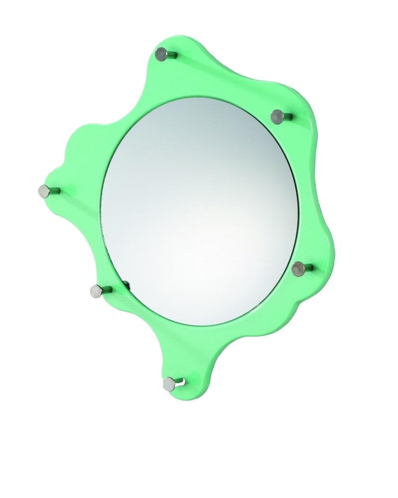 Nástěnné zrcadlo Avenus, světle zelená