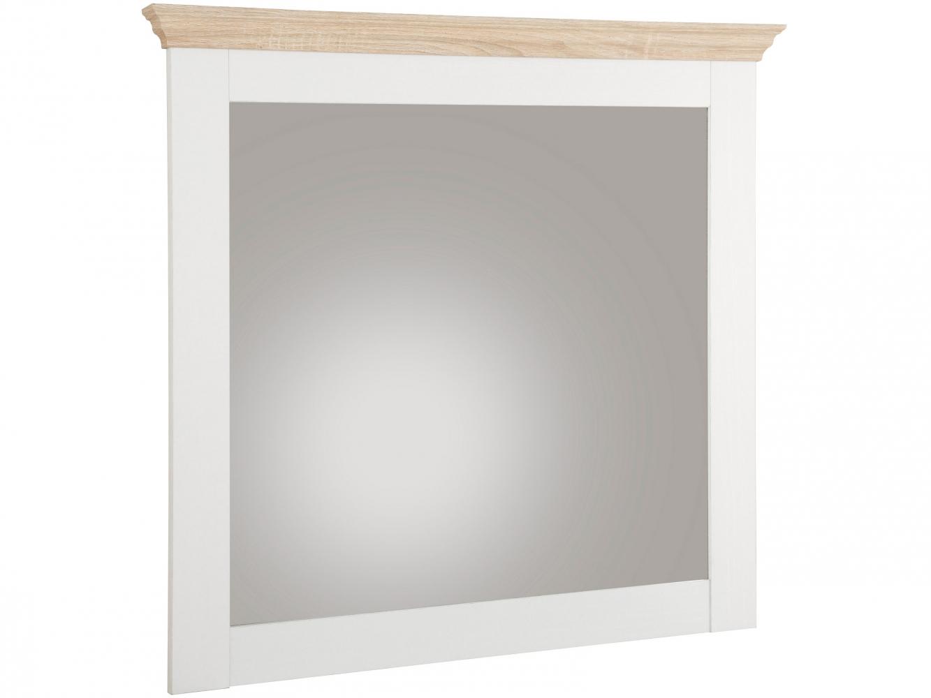Nástěnné zrcadlo Brusel, 75 cm, bílá