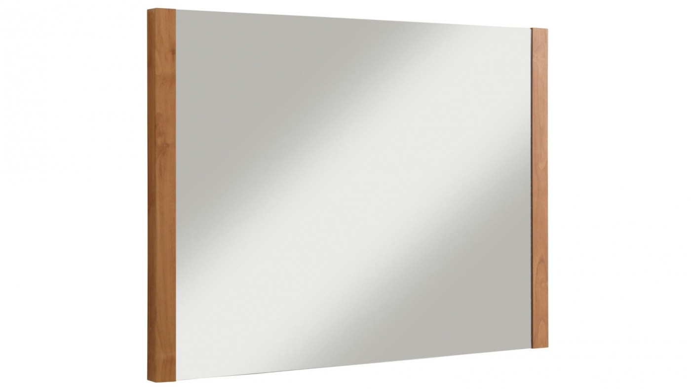 Nástěnné zrcadlo Carly, 80 cm, hnědá