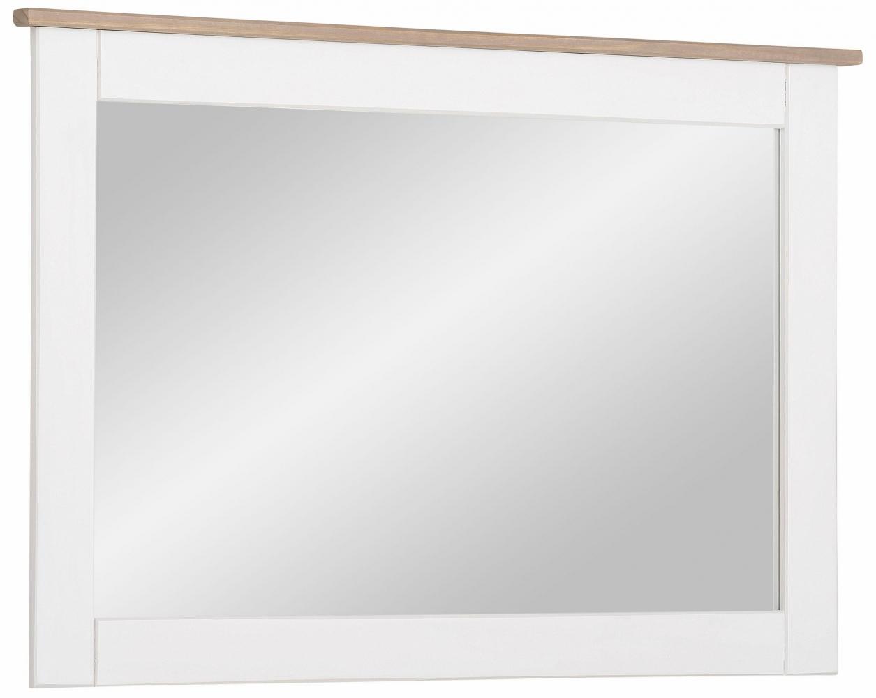 Nástěnné zrcadlo Cosma, 90 cm, bílá / šedá
