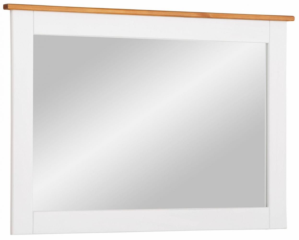 Nástěnné zrcadlo Cosma, 90 cm, bílá