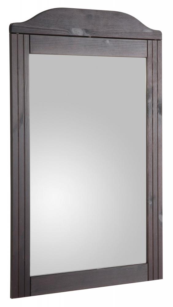 Nástěnné zrcadlo Filio, 80 cm, tmavě hnědá