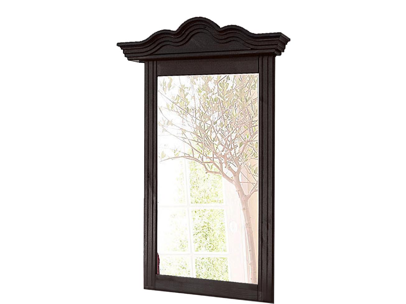 Nástěnné zrcadlo Filio, 85 cm, tmavě hnědá