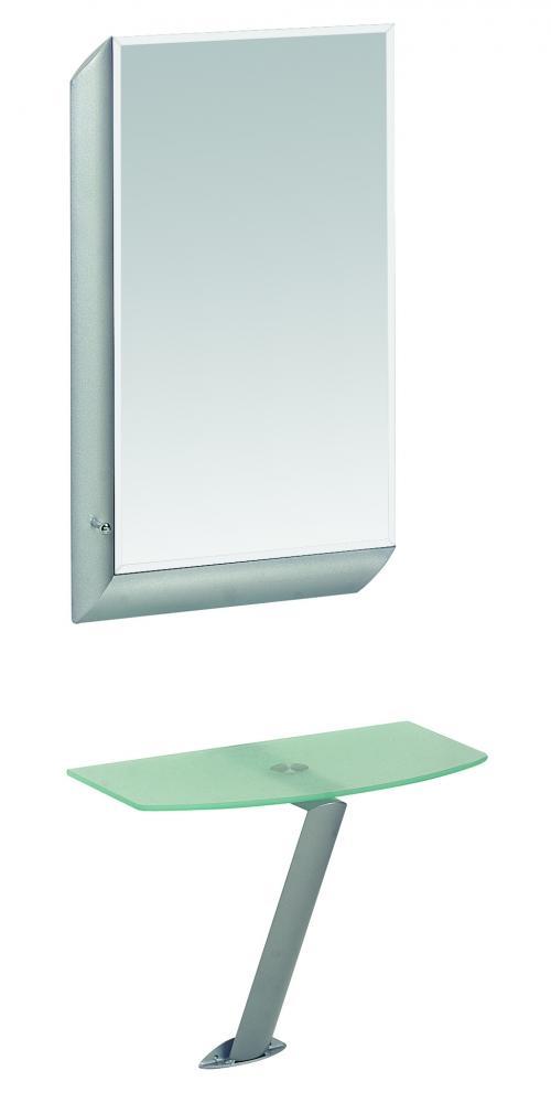 Nástěnné zrcadlo Gerald, 75 cm, hliník