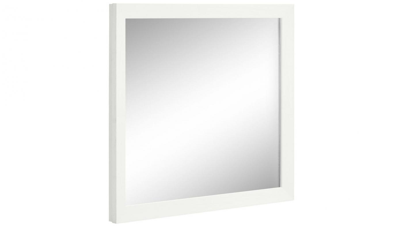 Nástěnné zrcadlo Janis, 70 cm, bílá