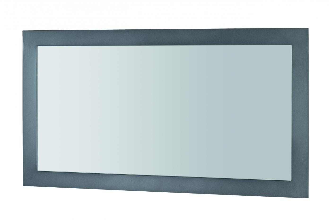 Nástěnné zrcadlo Junny, 90 cm, antracitová