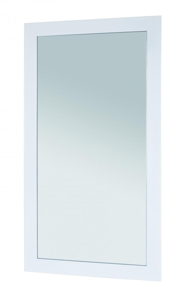 Nástěnné zrcadlo Junny, 90 cm, bílá