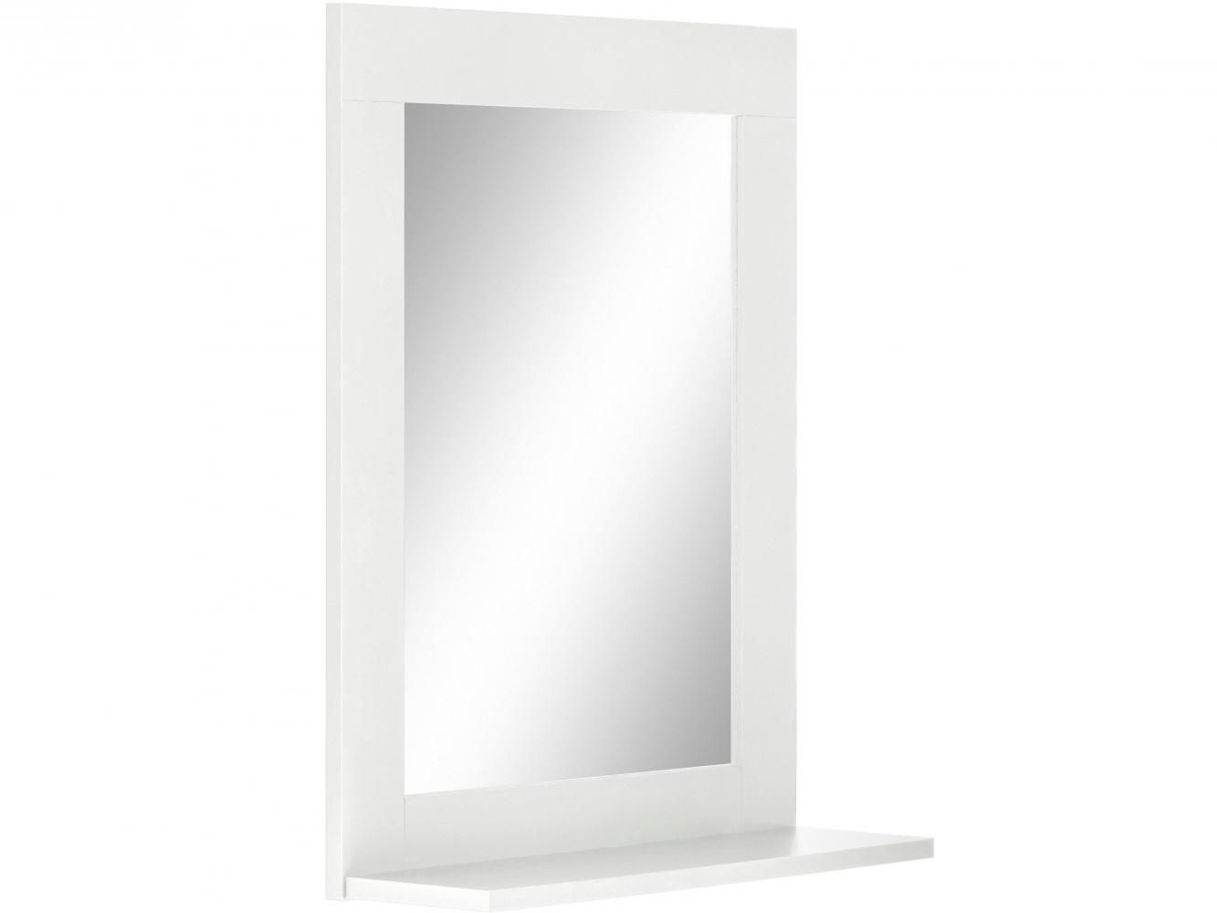 Nástěnné zrcadlo Kiley, 65 cm, bílá