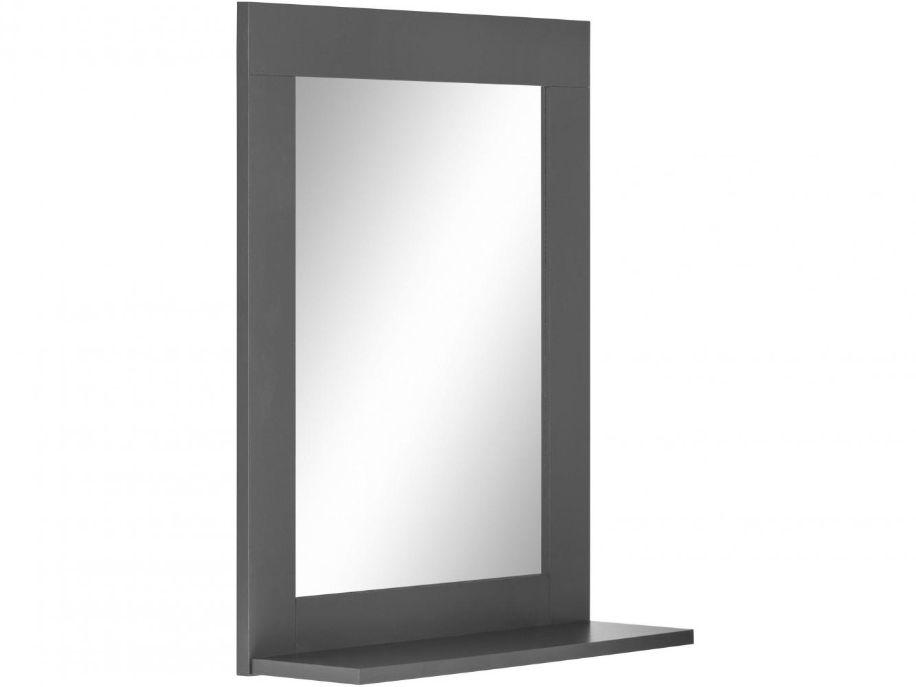Nástěnné zrcadlo Kiley, 65 cm, šedá