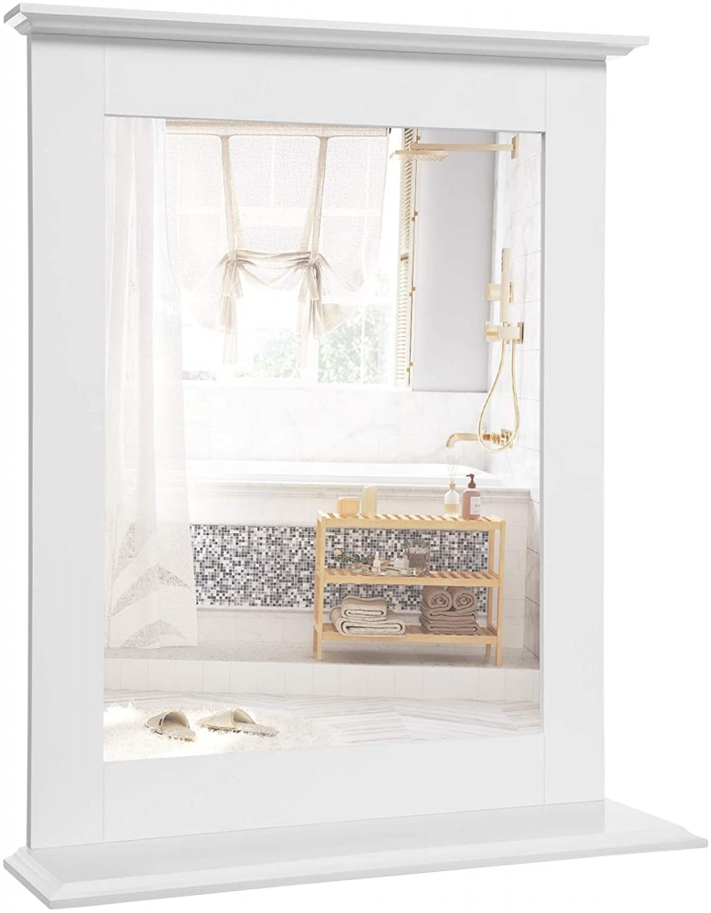Nástěnné zrcadlo Maria, 55 cm, bílá