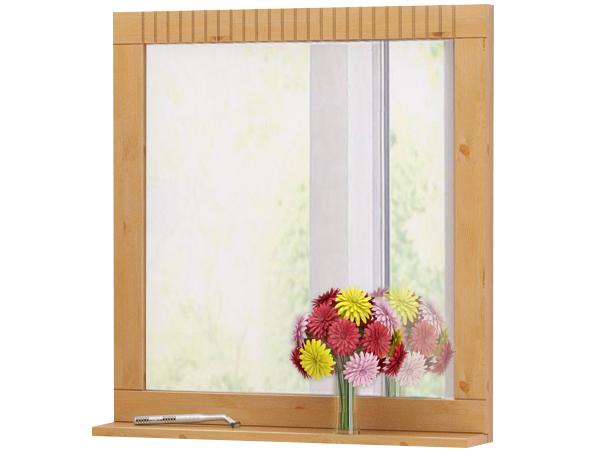 Nástěnné zrcadlo Rocia, 65 cm, borovice