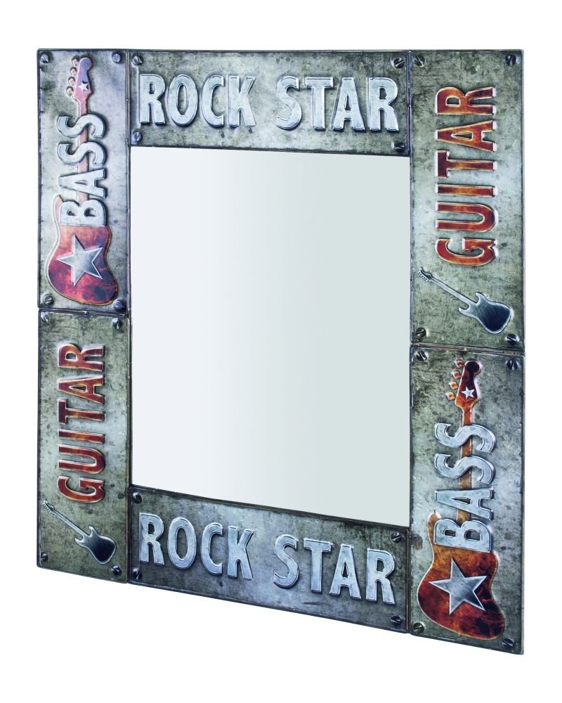 Nástěnné zrcadlo Rock Star, 74 cm