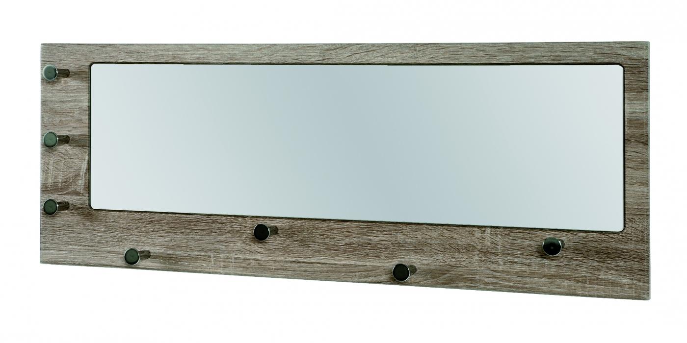 Nástěnné zrcadlo s háčky Guar, 80 cm