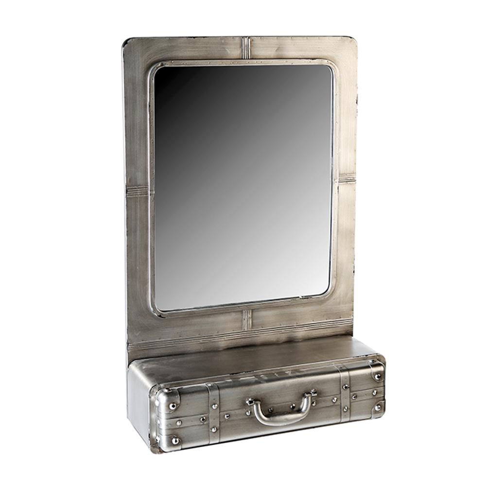 Nástěnné zrcadlo se zásuvkou Factory, 85 cm