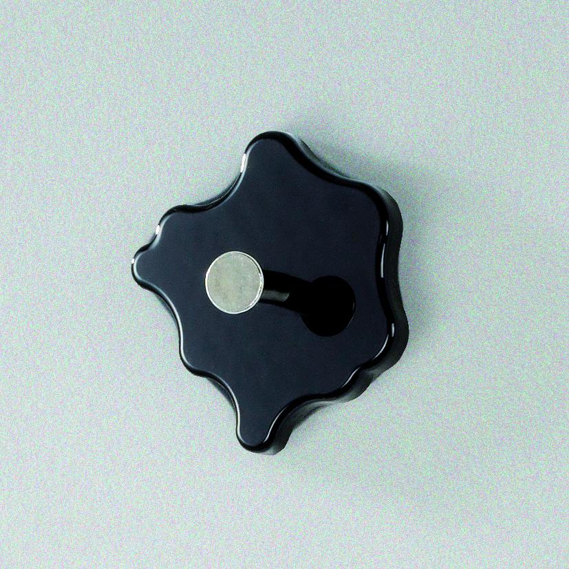 Nástěnný háček Avenus, chrom / černá