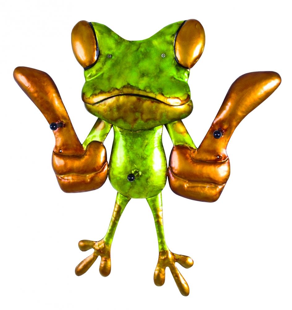 Nástěnný háček Frogo, 50 cm, zelená / zlatá