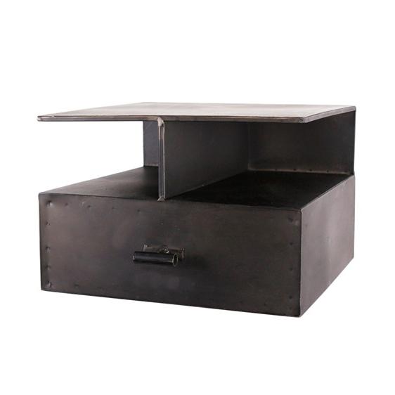 Nástěnný kovový noční stolek Boxit, 44 cm