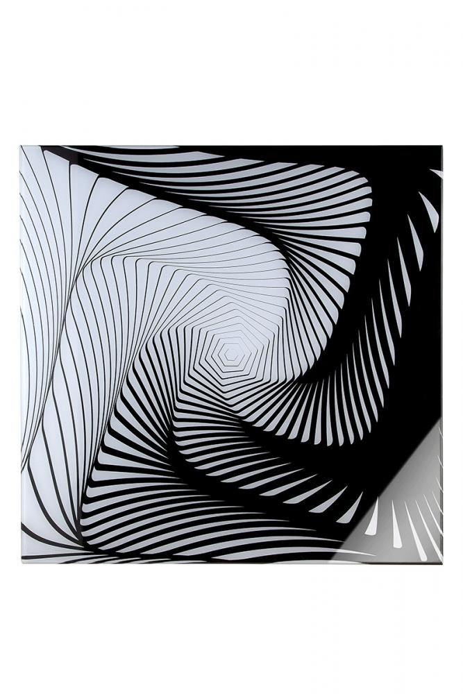 Nástěnný obraz Gres, bílá / černá
