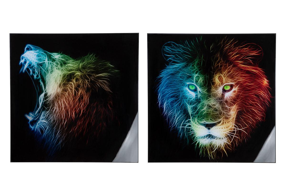 Nástěnný obraz Liones (SET 2 ks), vícebarevná