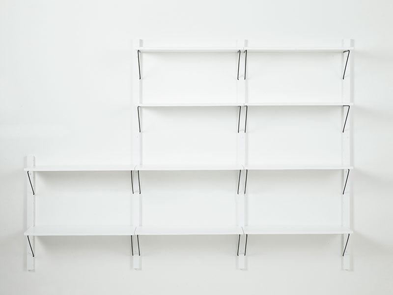 Nástěnný policový systém Dellan, 236 cm, bílá
