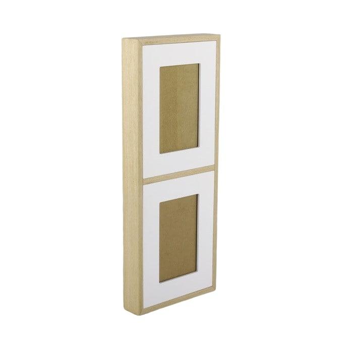 Nástěnný rámeček pro 2 fotky Frame, 45 cm, bílá