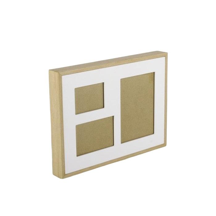 Nástěnný rámeček pro 3 fotky Frame, 35 cm, bílá
