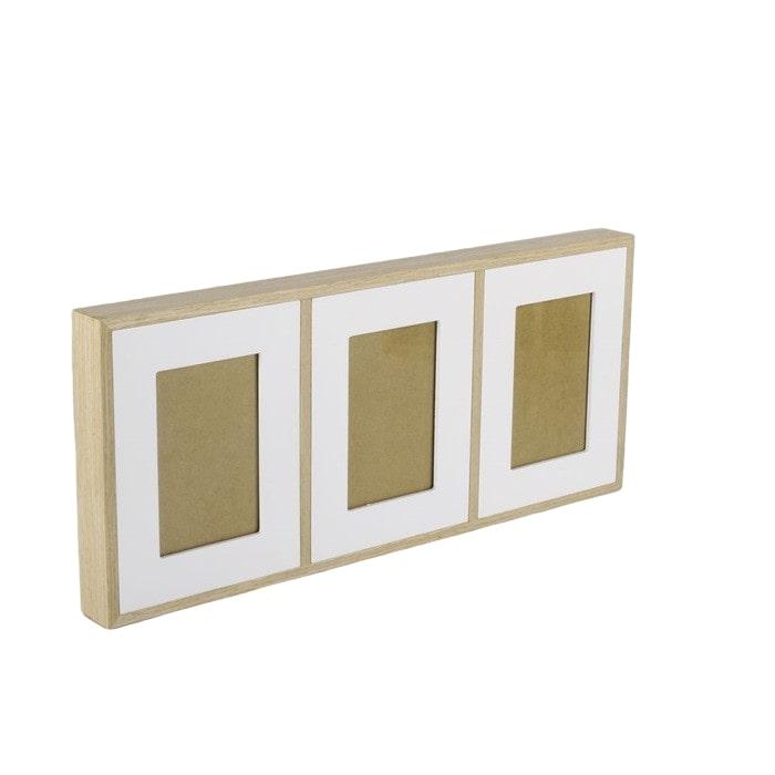 Nástěnný rámeček pro 3 fotky Frame, 52 cm, bílá