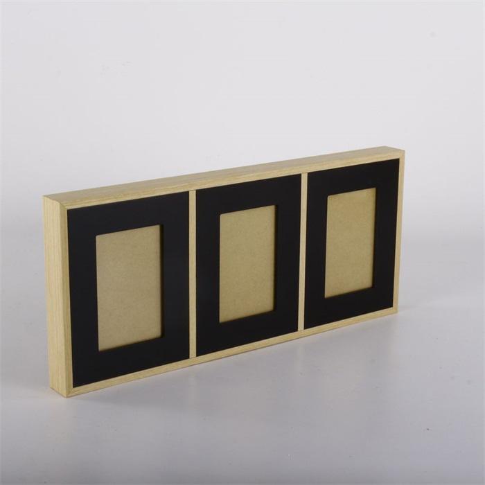Nástěnný rámeček pro 3 fotky Frame, 52 cm, černá
