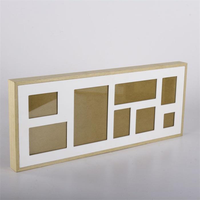 Nástěnný rámeček pro 8 fotek Frame, 61 cm, bílá