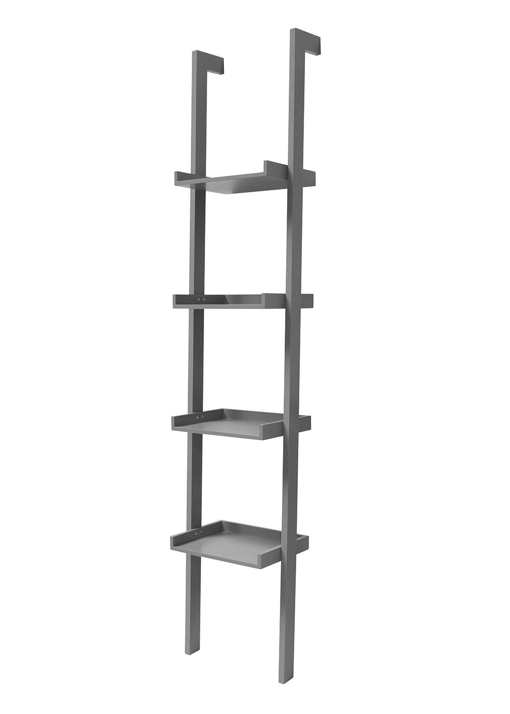 Nástěnný regál / knihovna Flake, 37 cm, barevný
