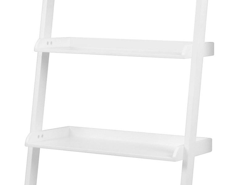 Nástěnný regál / knihovna Flake 67 cm bílá