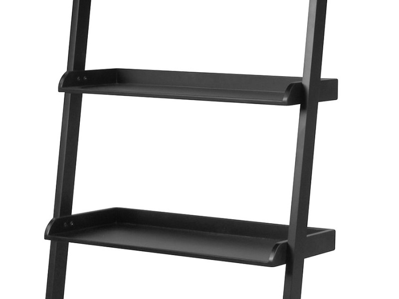 Nástěnný regál / knihovna Flake 67 cm černá