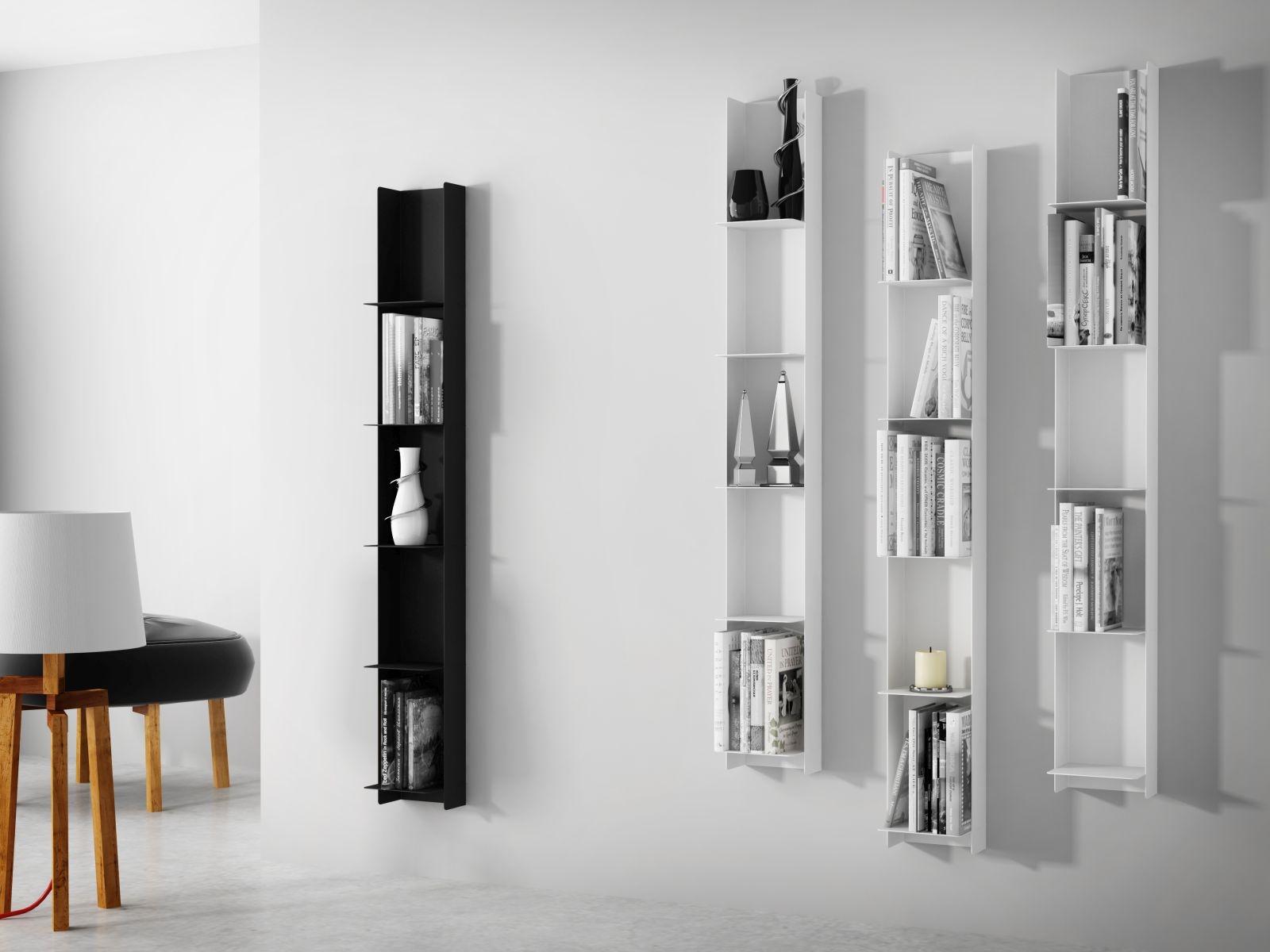 Nástěnný regál / knihovna Libri, 150 cm, bílá