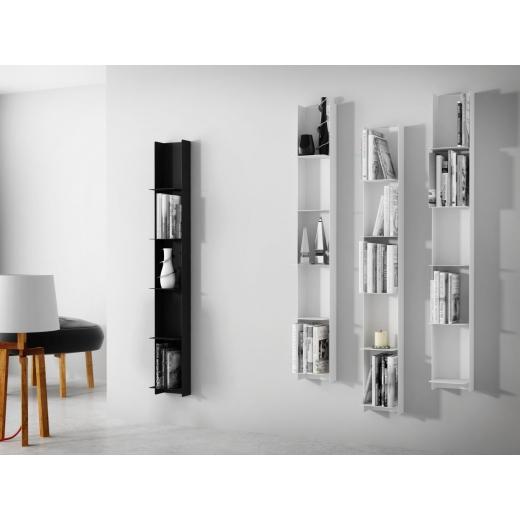 n st nn reg l knihovna libri 150 cm ern n st nn police. Black Bedroom Furniture Sets. Home Design Ideas
