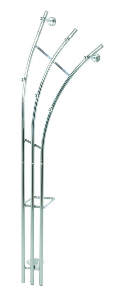 Nástěnný věšák Agila, 184 cm, stříbrná