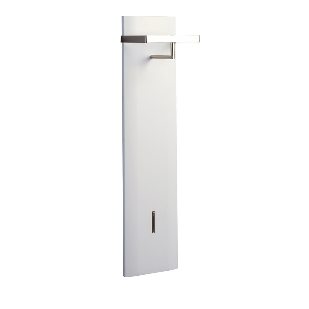 Nástěnný věšák Cirus, 110 cm, bílá