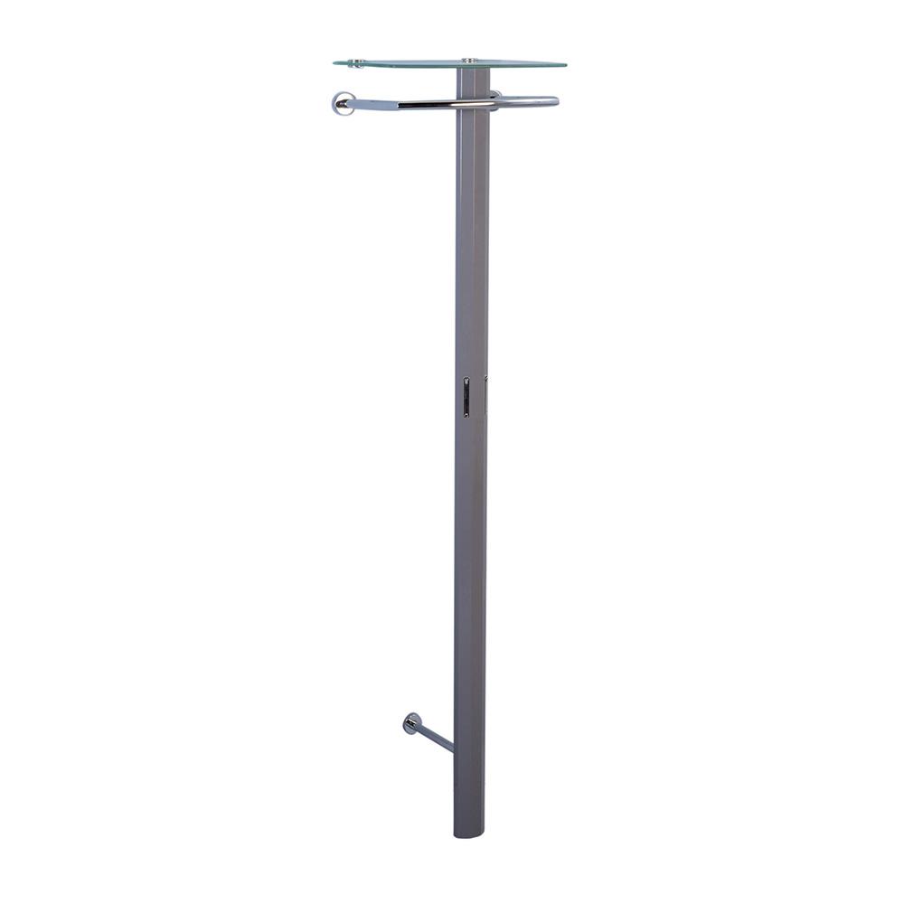 Nástěnný věšák Clip, 185 cm, antracitová
