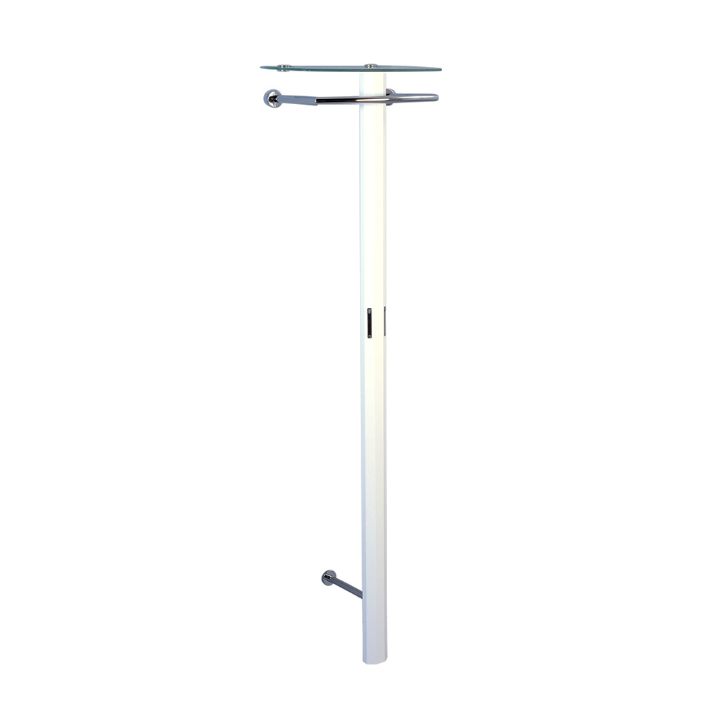 Nástěnný věšák Clip, 185 cm, bílá