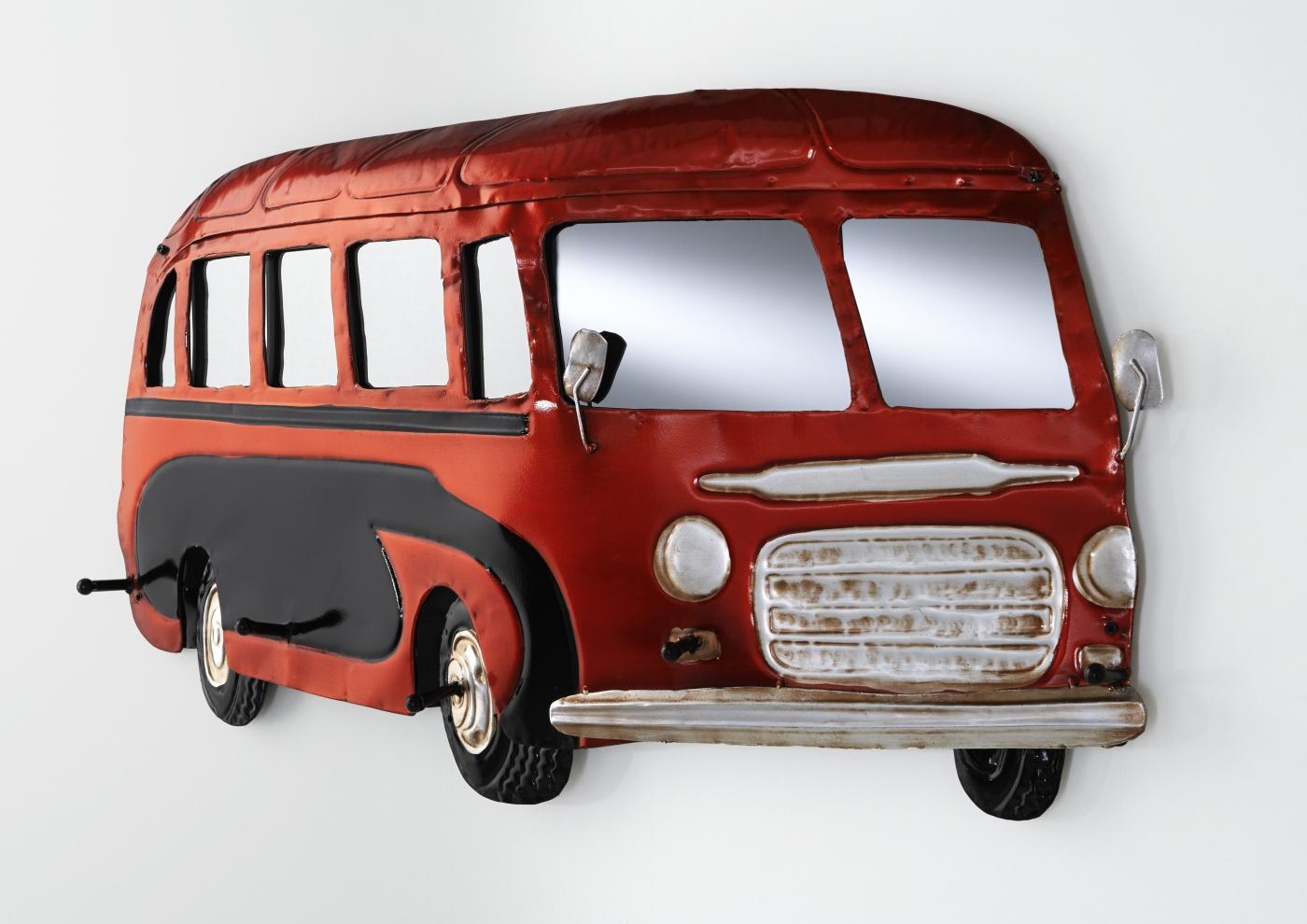 Nástěnný věšák Daga, 79 cm, černá / červená